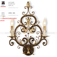 Hot-sell American style wall lamp wrought iron antique retro finishing, free shipping