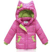 High end! 2014 winter children baby girls kids short design hooded down jackets fashion thickening warm parkas coats outerwear