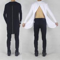 back zipper oversized long sleeve under t shirt undershirt slim fit extended tyga cool hip hop streetwear kanye west pyrex hba