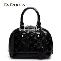 2014 women's channel handbag fashion japanned leather embossed shell bag Small handbag shoulder bag messenger bag