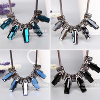 Quality fashion elegant crystal chain fashion design short necklace female