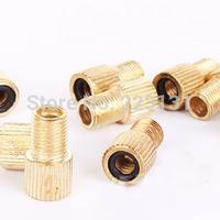 10pcs/lot Road bike adapters copper belt washer PRESTA/French valve change to Shrader/American valve