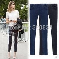 Plus size clothing 2014 fashion autumn jeans plus size plus size Women elastic trousers