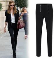 Plus size clothing 2014 autumn pants mm slim basic trousers plus size elastic skinny pants