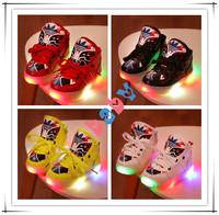 2014 autumn peking opera boy girls shoes light emitting  luminous sport shoes kids boots