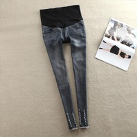 2014 Maternity jeans trousers distrressed maternity fashion hole jeans spring and autumn denim trousers free shipping