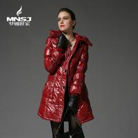 Female medium-long slim thickening down coat women's winter coat