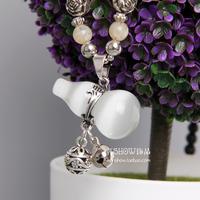 Fashion design long necklace small gourd black beads fashion all-match - eye elegant Women accessories