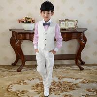 Child set autumn vest set male child formal dress flower girl dress children's clothing piano costume