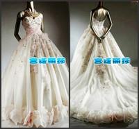New 2014 princess tube top bandage wedding dress the bride wedding dress 2014 Free Shipping
