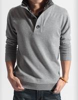 Male faux two piece sweater fashion slim sweater male sweater outerwear