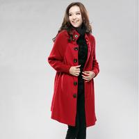 2014 women winter coats wool knitted patchwork cloak style plus size overcoat woollen coat trench coat for women,S801