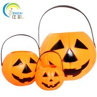 Halloween props pumpkin bucket toy candy pumpkin pot small triangle set