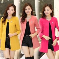 2014 autumn outerwear plus size wool coat autumn woolen trench autumn winter woolen overcoat outerwear women's
