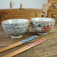 Japanese-style ceramic underglaze color green rice bowl 4.5 inch standard household utensils jobs