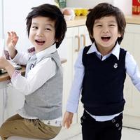 2014 autumn and winter preppy style male children's child clothing child vest vest wt-2453