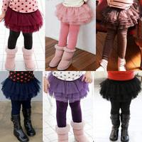 2014 autumn and winter girls clothing child gauze culottes trousers legging kz-1639