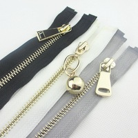 6pieces fashion mix color open-end metal zipper with gold zipper slider fit for bags/garment/home textile ca138