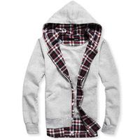 2014 autumn male sportswear set cardigan zipper sweatshirt with a hood male at home top