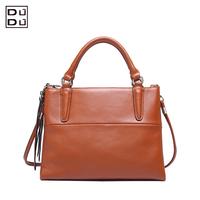 Top quality DuDu Italy Brand women's genuine leather handbag 2014 leather one shoulder bag fashion
