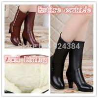 2014 genuine leather womans boots,  women fur  winter boots  botas hombre  women snow boots  boot  emu bottine femme