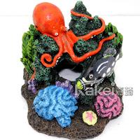 Fish tank aquarium large and small fashion decoration rockery coral aquarium decoration resin crafts