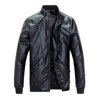 Scream Price leather clothing PU leather jacket men solid men jacket muliti pockets warm men coat  plus size free shipping