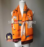 fashion large scarf  silk scarf  sheep fur shawl autumn & winter use