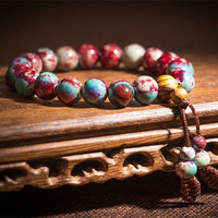 Kiln red ceramic bracelet handmade the preparation of chinese national style trend ceramic accessories porcelain beads lovers