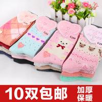 10 pairs of winter thick wool socks angora rabbit fire autumn and winter women's socks knee socks 10 pairs