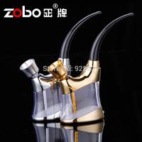 Zobo water smoking pipe bicirculation filter cigarette holder hookah dual smoking set zb-503