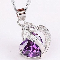 925 pure silver necklace female jewelry fashion accessories silver birthday gift