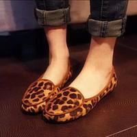 Flat 2014 leopard print Moccasins female pans shoes comfortable maternity shoes fashion women's shoes flat heel single shoes