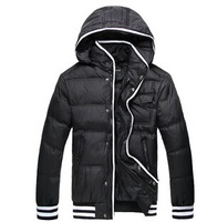 2014 Winter Fashion Down Parka Men's Clothing Thermal Wadded Jacket Slim Male Cotton-padded Jacket Men's Outerwear Coat