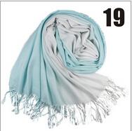 2014 autumn and winter female gradient color block decoration tassel scarf large cape faux ultra long