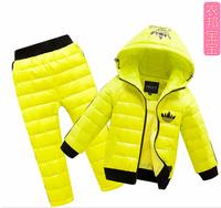 2014 Child / Boys  girls down coat  child fashion down set /  Down & Parkas / sport set   freee shipping