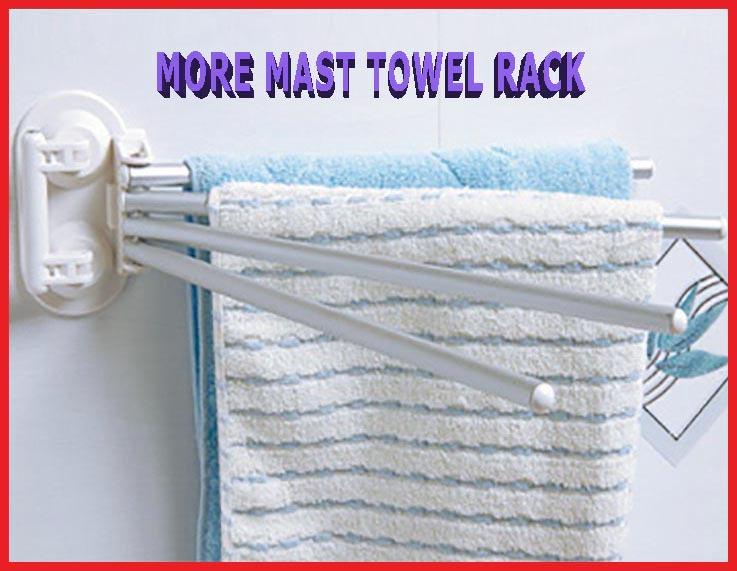 H006 Powerful suction wall more mast towel rack multi sucker rod towel hanging on bathroom towel bar towel FREE SHIPPING(China (Mainland))