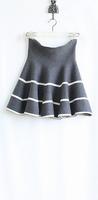 2014 NAVA Women's Knitted Black And White Vertical Stripe High Waist  Bust Skirt