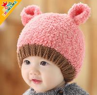 Baby Christmas Gifts! 2014 NEW Korean Design Baby Boy Girl Hats,Winter Baby Hat,Knitted Beanie Caps Children Keep Warm Hat
