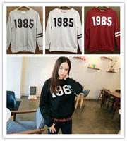 Autumn New 2014 Vampish 1985 HARAJUKU personalized digital print long-sleeve sweatshirt 100% cotton round neck T-shirt