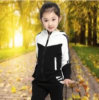 Children's clothing autumn female child set 2014 big boy twinset long-sleeve sportswear autumn child outerwear
