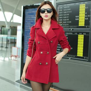 осень-зима корейский стиль женщины тонкий шерстяной