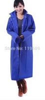 Solid color raincoat fashion eva translucent scrub adult thick raincoat men women lovers long design poncho L, XL free shipping