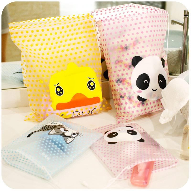 Hearts fashion dot cartoon clothing waterproof travel storage bag drawstring tote sorting laundry bag(China (Mainland))