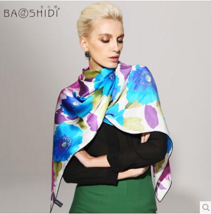 women silk scarf 2014 brand famous large long red silk shawl scarves fashion female winter 100% silk pashmina shawls180*55cm(China (Mainland))