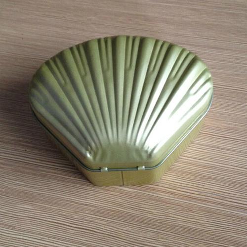 Gold color Conchoidal Metal tin box Shell gold creative Polygon candy tin box(China (Mainland))