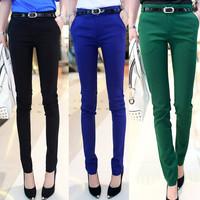 New Fashion 2014 Leggings Female Skinny Cotton Pencil Pants Slim Casual Trousers Women Pants
