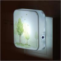 Fashion led night light control sensor light energy saving lamp bed-lighting wall lights plug in lamp bedroom