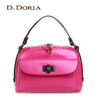 2014 bag fashion women's oil leather handbag female shoulder bag candy color bags bucket handbag