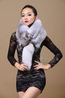 Fox fur muffler scarf fur fox fur scarf cape blue fox